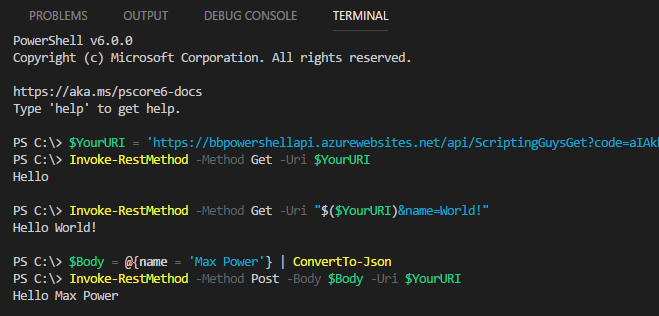 PowerShell in Azure Functions