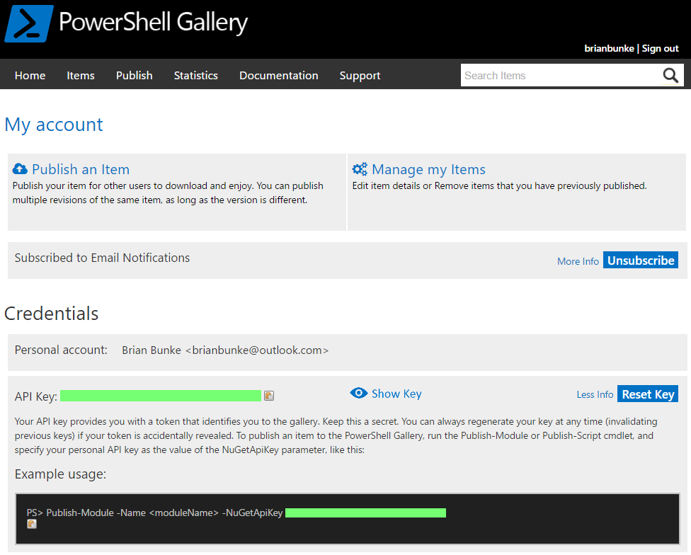 Publishing Scripts to the PowerShell Gallery